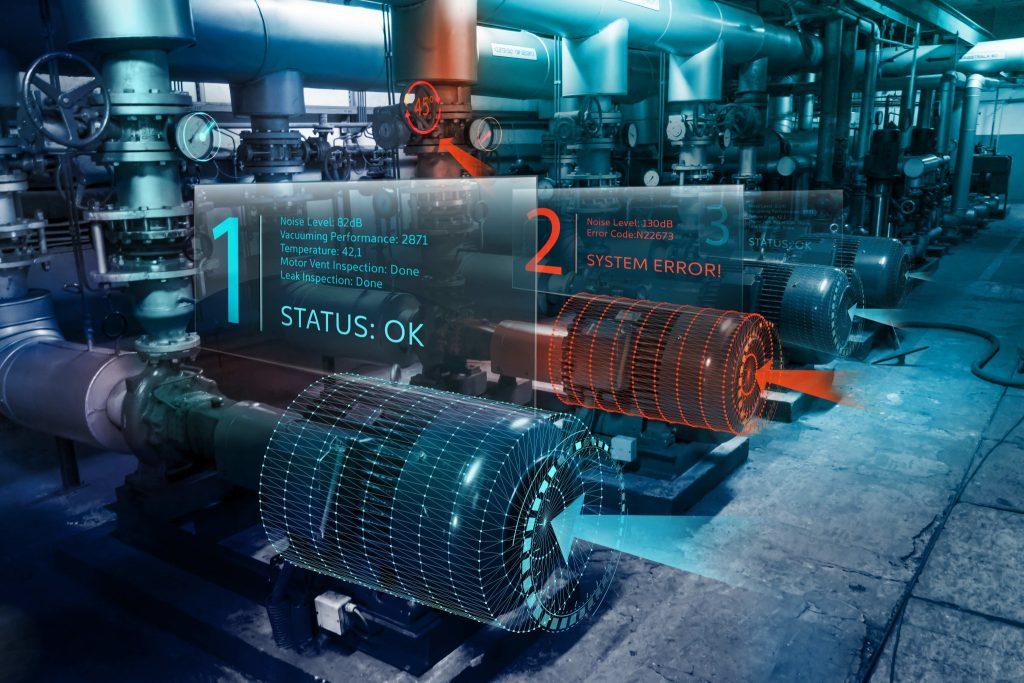 Exemplo de aplicação de uma interface de realidade aumentada para a industria